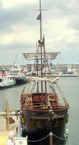 A pirate ship in Cape Town